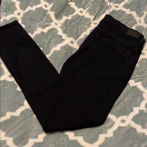 Express Size 12 Black Destroyed Skinny Jean